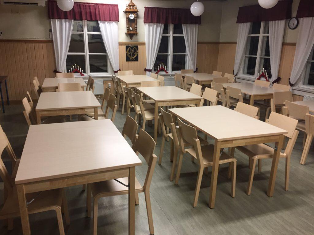 Nya bord och stolar 2018